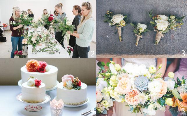 2 ワークショップでフラワーアレンジメントを体験 3 コサージュ 4 ウェディングケーキに乗せるフードセイフなお花も対応可能 5 個性的な花を使ってオンリーワンのブーケを用意してくれる