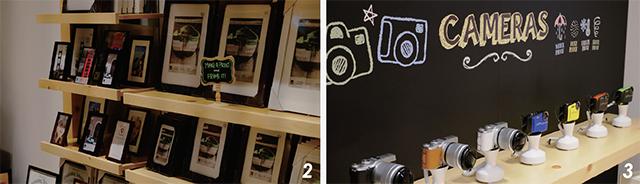 2フレームも豊富に揃えられている 3Xシリーズを始め、カメラも購入できる