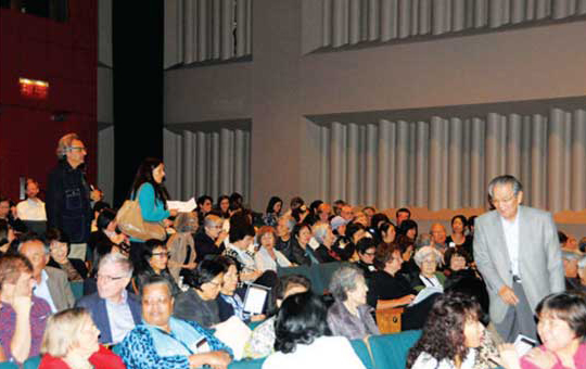 コンサート開催前の会場の様子
