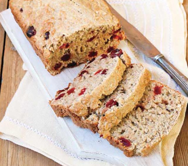 パウンドケーキに入れて焼くだけで栄養満点の朝食に