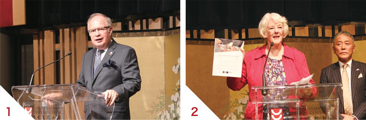 1ブライアン・ウィルフォート元日加議連会長 2リズ・ミッチェル王立オンタリオ博物館ビショップ・ホワイト・コミッティー理事長