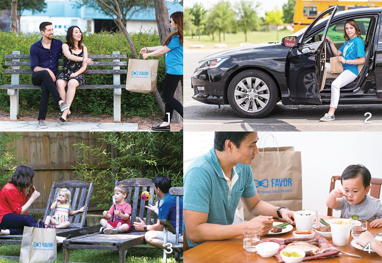 1.自宅以外にもデリバリー可能 2.鮮やかなブルーが目印 3.ピクニック先でオーダーすれば荷物が少なくて済む 4.なかなかレストランに行けない子供のいる家族に人気