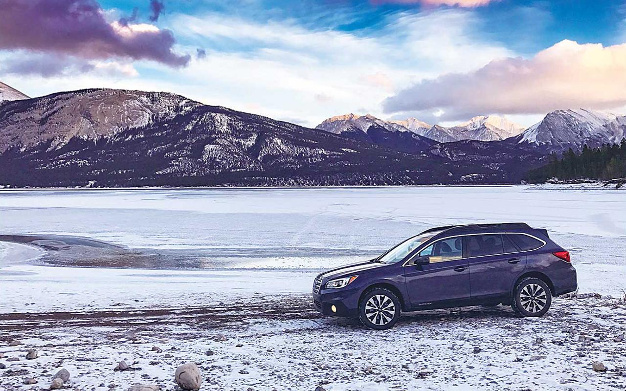 """冬のオフロードも難なく運転できる愛車""""Aurora""""@Cline River"""