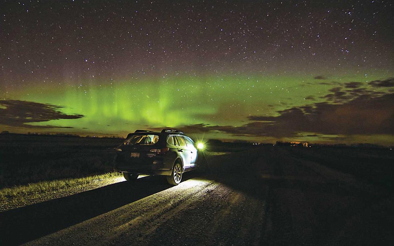 オーロラ観察へのドライブも愛車Auroraとなら快適