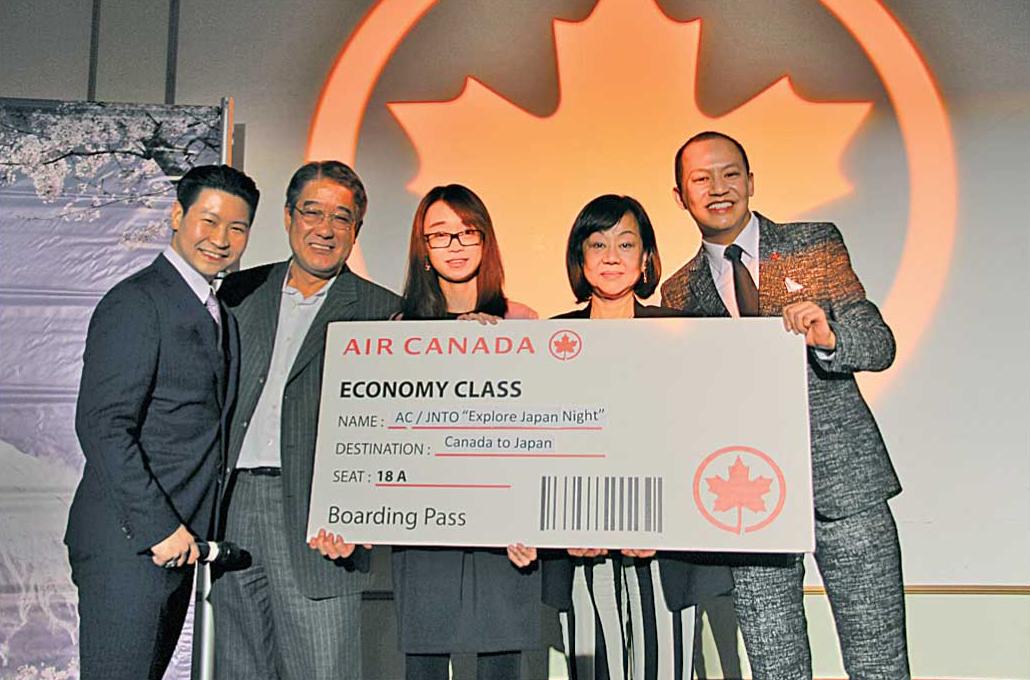 ラッフルでは最高賞に日本行き航空券が贈呈