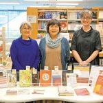 左からKutsukakeさん、中島さん、通訳のJocelyne Allenさん
