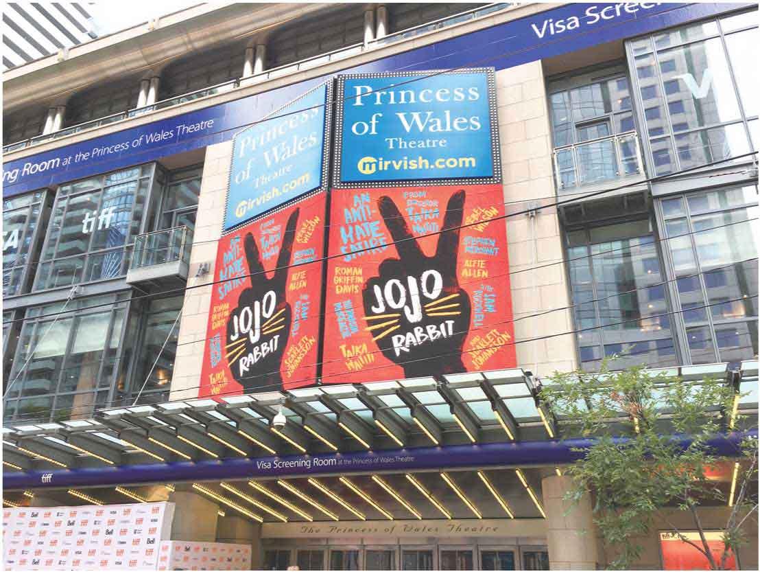 『ジョジョ・ラビット』が上映されたPrincess of Wales Theatre