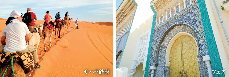 左:サハラ砂漠 右:フェズ