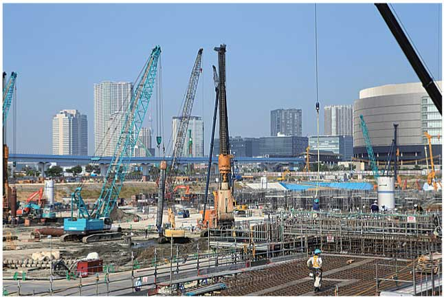 東京オリンピック施設工事現場