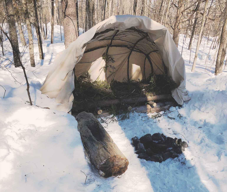 樹液採集時の簡易テント、ウィグワム