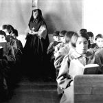 Students of Fort Albany Residential School in class