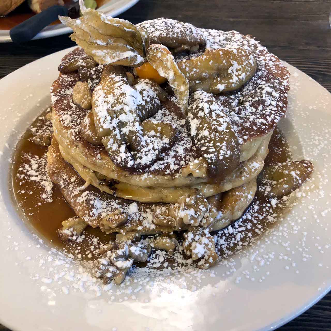 Banana Walnut Pancakes ($16)