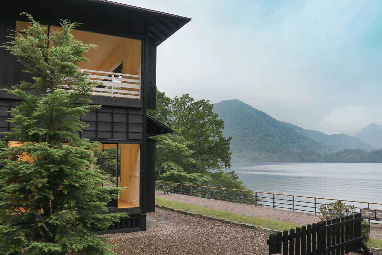中禅寺湖に面した旧英国大使館別荘